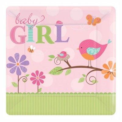 Kalastallrikar - baby girl - 8 st