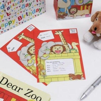 Inbjudningskort - Dear Zoo - 10 st