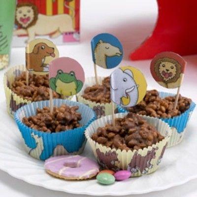 Muffinsformar med dekorationer - Dear Zoo