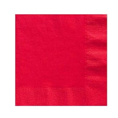 Kalasservetter - röd - 50 st