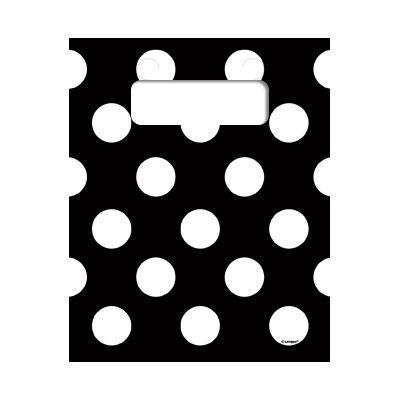 Godispåsar - svart med vita prickar - 8 st