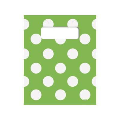 Godispåsar - lime med vita prickar - 8 st
