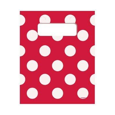Godispåsar - röd med vita prickar - 8 st