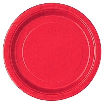 Kalastallrikar - röd - 20 st