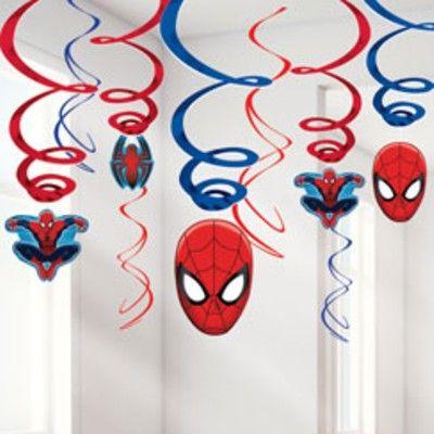 Hängande spiraler - Spiderman