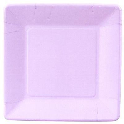 Kalastallrikar - ljus lavendel kvadrat - 20 st