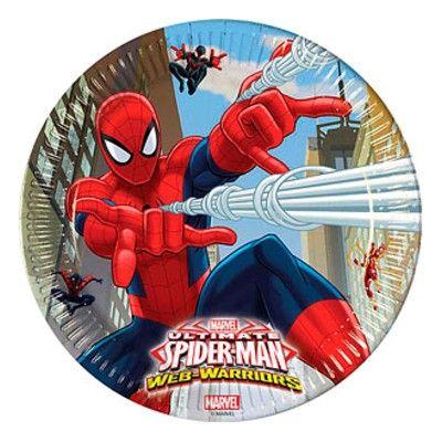 Kalastallrikar - Spiderman - 8 st