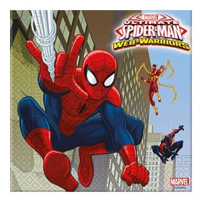 Kalasservetter - Spiderman - 20 st