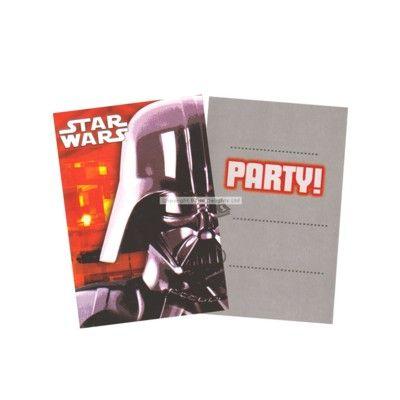 Inbjudningskort - Star Wars - 6 st