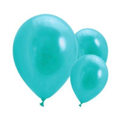 Ballonger - turkos - 10 st