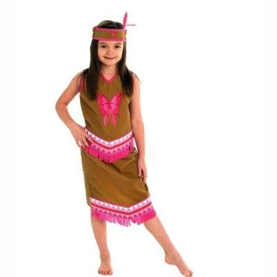 Indian med kjol - maskeradkostym, 5-6 år
