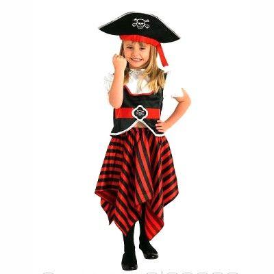 Piratkläder med kjol, 5-6 år