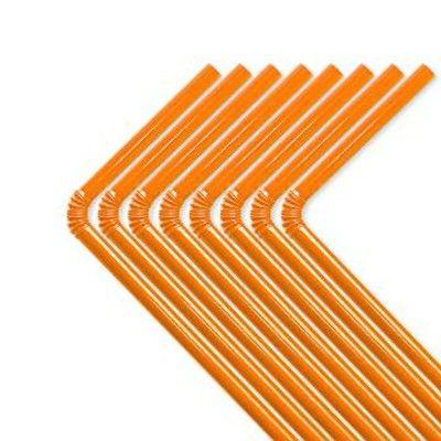 Sugrör - orange - 50 st