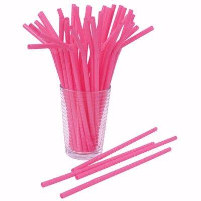 Sugrör - rosa - 50 st