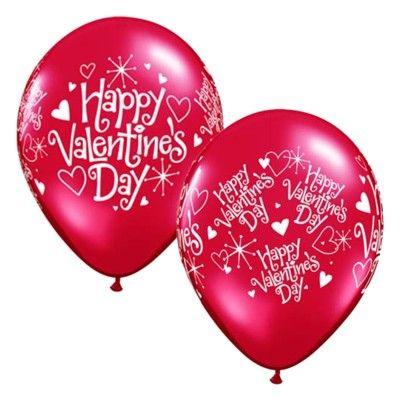 Ballonger - röd - alla hjärtans dag - 6 st
