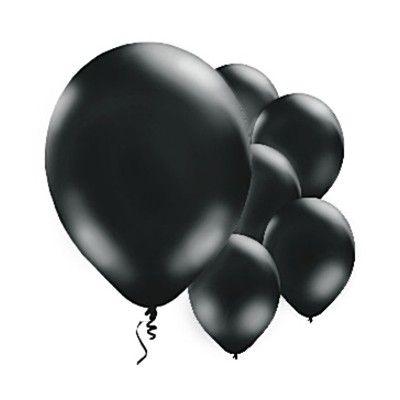 Ballonger - svart - 10 st