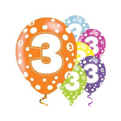 Ballonger - 3 år - 6 st