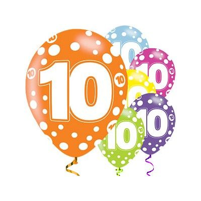 Ballonger - 10 år - 6 st