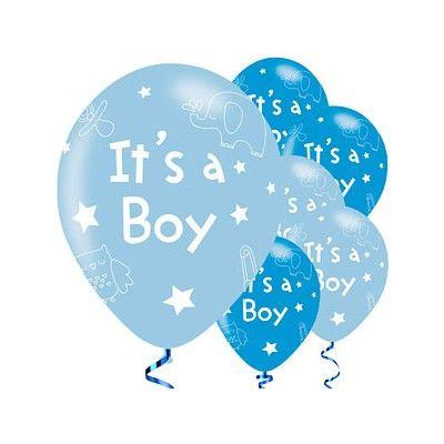 Ballonger - It's a boy! - blå metallic - 6 st
