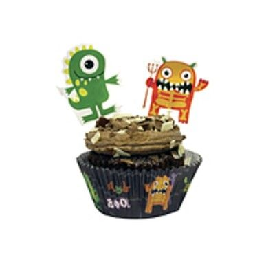 Muffinsformar med dekorationer - Halloween