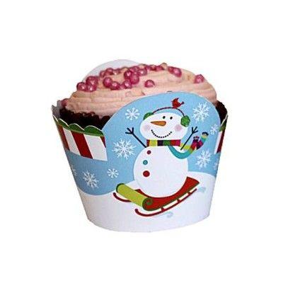Cupcake wraps till muffinformar - jul - 12 st