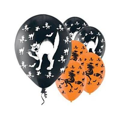 Ballonger - häxor och katter - 6 st