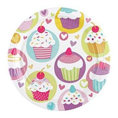 Kalastallrikar - cupcakes - 8 st