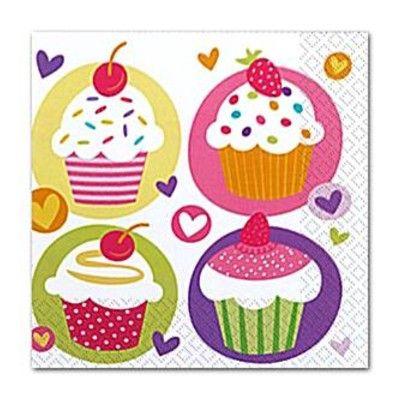 Kalasservetter - cupcakes - 20 st