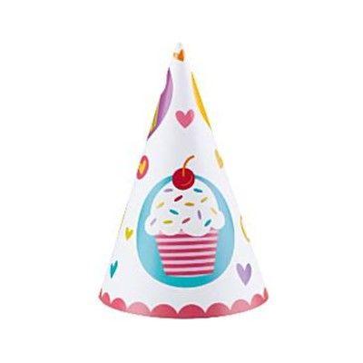 Partyhattar - cupcakes - 6  st