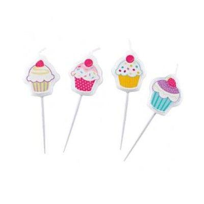 Tårtljus - cupcakes - 4 st