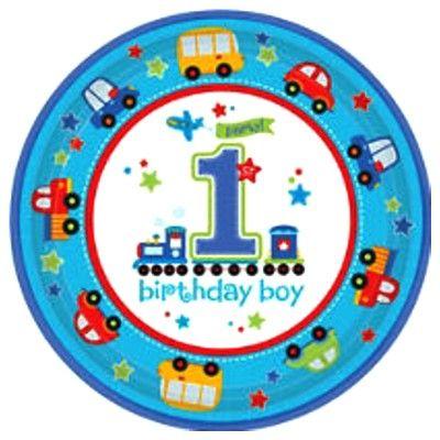 Kalastallrikar - Birthday Boy 1 år - 8 st