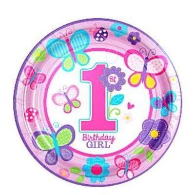 Kalastallrikar - Birthday Girl 1 år - 8 st