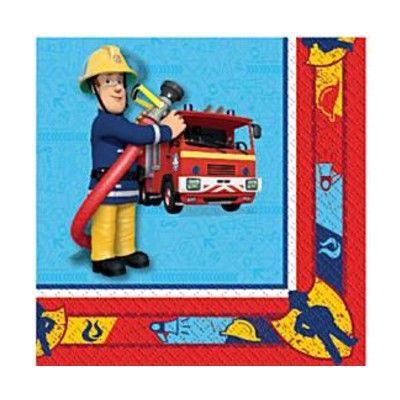 Kalasservetter - brandman - 20 st