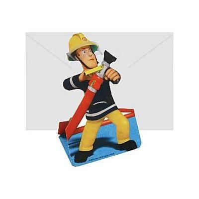 Inbjudningskort - brandman - 8 st