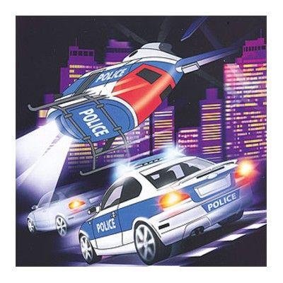 Kalasservetter - police - 20 st