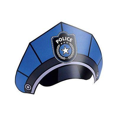 Partyhattar - police - 8 st