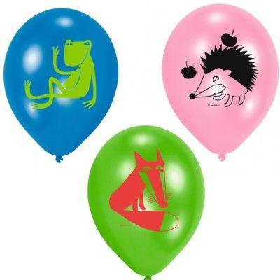 Ballonger - glada djur - 6 st