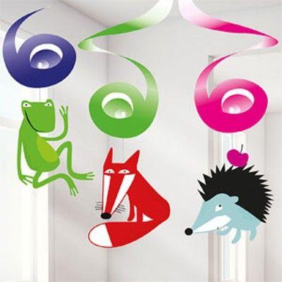 Hängande spiraler - glada djur