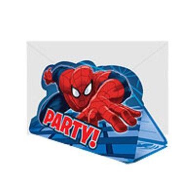 Inbjudningskort - Spiderman - 8 st