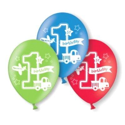 Ballonger - Birthday Boy 1 år - 6 st