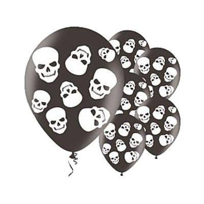 Ballonger - dödskallar - 6 st