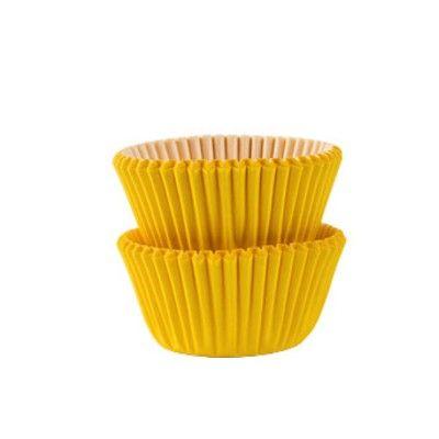 Muffinsformar - mini - gul - 100 st
