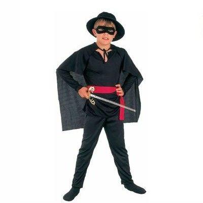 Zorro - maskeradkostym, 4-6 år