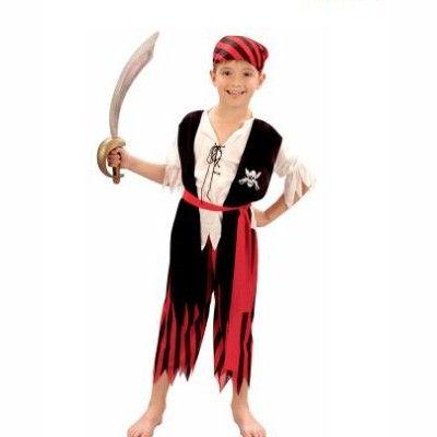 Piratkläder - randiga, 7-8 år