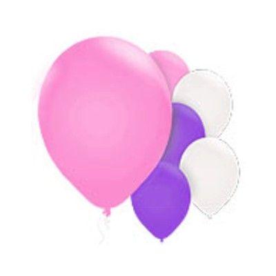 Ballonger - pärlemor - rosa set - 10 st