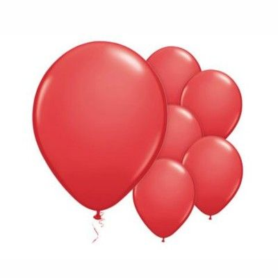 Ballonger - röd - 10 st