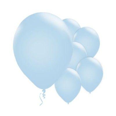Ballonger - ljusblå - 10 st