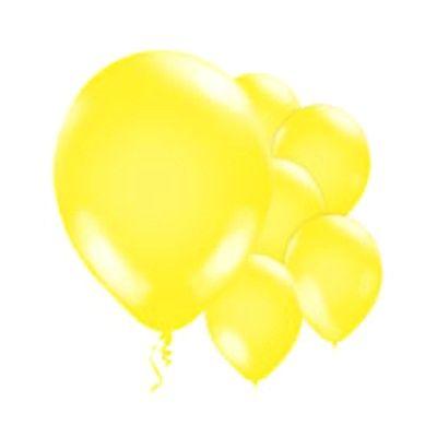 Ballonger - gul metallic - 10 st