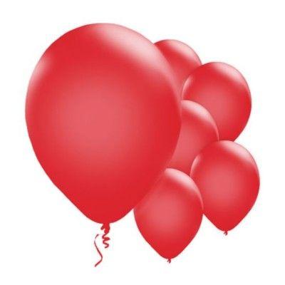 Ballonger - röd metallic - 10 st