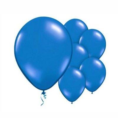 Ballonger - mörkblå metallic - 10 st